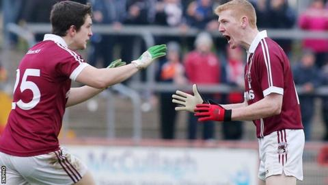 Christopher Bradley (right) could feature in All-Ireland club decider for Slaughtneil