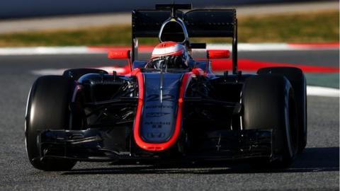 Jenson Button in the McLaren-Honda