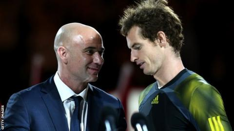 Andre Agassi and Andy Murrray