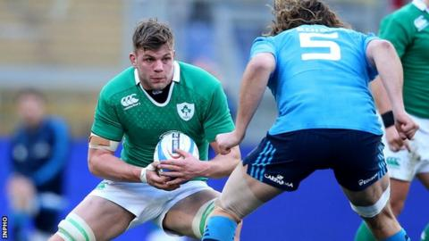 Jordi Murphy in action in Ireland's opening Six Nations win over Italy earlier this month