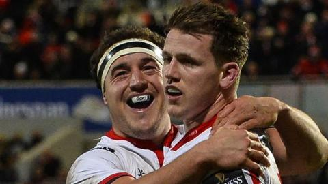 Ulster beat the Scarlets 25-20