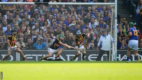 Tipperary's John O'Dwyer has a penalty saved in last year's All-Ireland Final against Kilkenny