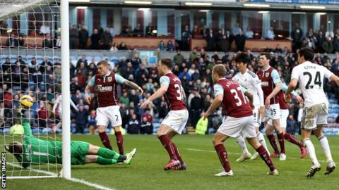 Swansea score the opening goal