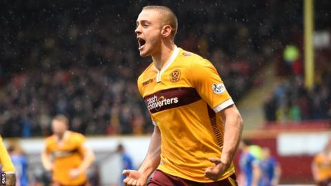 Louis Laing opened the scoring for Motherwell.