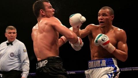 Chris Eubank Jr punches Dimitry Chudinov