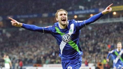 Wolfsburg's Dutch striker Bas Dost