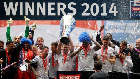 Peterborough United players with Football League Trophy