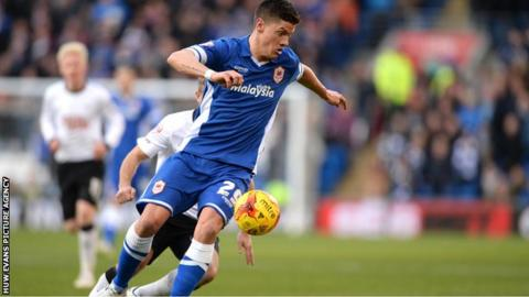 Alex Revell in action for Cardiff City