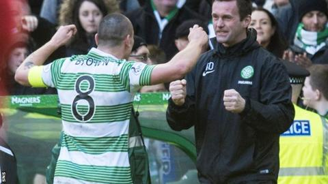 Ronny Deila and Scott Brown