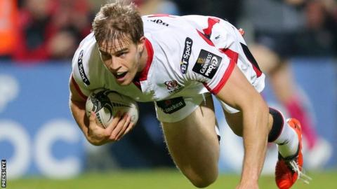 Andrew Trimble has scored 64 tries for Ulster
