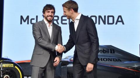 Fernando Alonso and Jensen Button