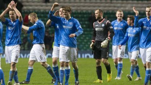 St Johnstone moved into the top six after victory at Celtic Park.
