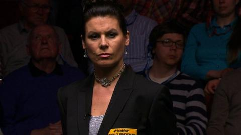 Snooker referee Michaela Tabb