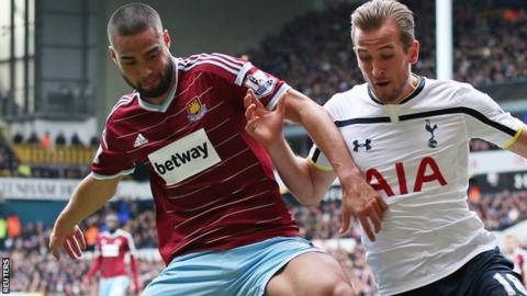 Winston Reid holds off Harry Kane