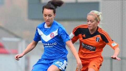 Kerry Montgomery in action against Glasgow City