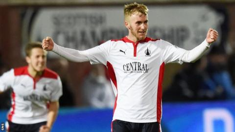 Falkirk's Craig Sibbald celebrates at full time.