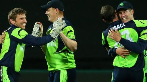 Ireland players celebrates after securing another thrilling World Cup win