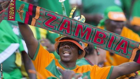 Zambia football fan