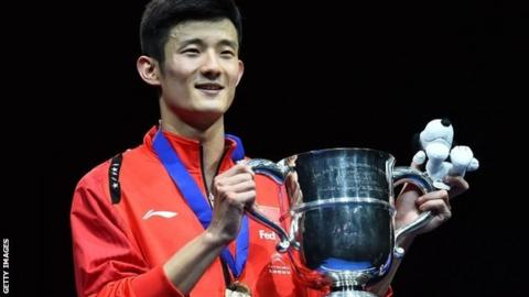 Chen Long with All England trophy