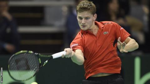 Belgium's David Goffin brushed aside Adrien Bossel in straight sets