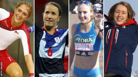 Laura Trott, Casey Stoney, Paula Radcliffe and Lizzie Yarnold