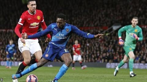 Danny Welbeck scores the winner at Old Trafford