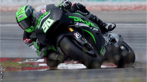 Eugene Laverty crashes out on lap three of Brno MotoGP
