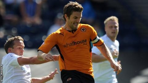 Sam Ricketts in action for Wolverhampton Wanderers
