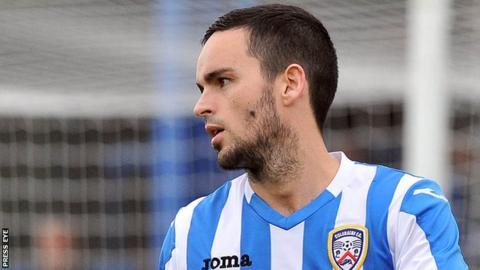 Coleraine midfielder Neil McCafferty