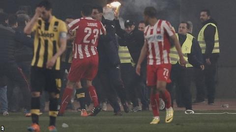 Greek Cup quarter-final between AEK Athens and Olympiakos
