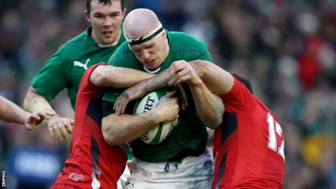 Paul O'Connell in action against Wales in last year's Six Nations