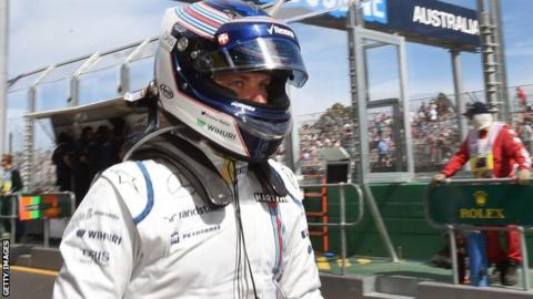 Williams Formula One driver Valteri Bottas