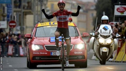 France's Tony Gallopin wins sixth stage