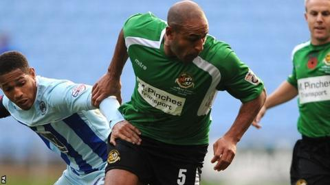 Wayne Thomas was part of Worcester City's giant-killing FA Cup team against Coventry City in November