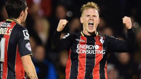 Matt Ritchie celebrates with Bournemouth