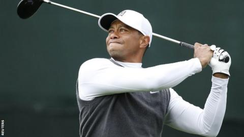 Tiger Woods in action at the Waste Management Phoenix Open last month