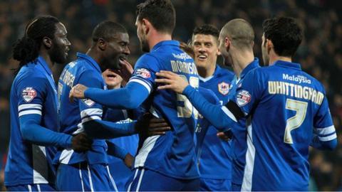 Cardiff City celebrate a goal