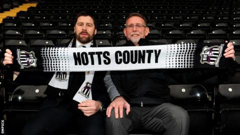 Jim Rodwell (left) joined Notts when Ray Trew became the club's owner in 2010