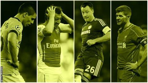 Manchester City, John Terry, Santi Cazorla, Steven Gerrard