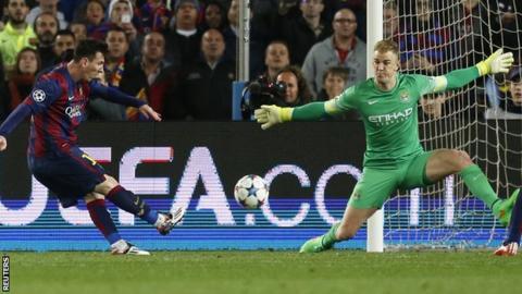 Joe Hart thwarts Messi