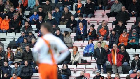 Blackpool fans