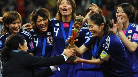 Japan win the 2011 women's World Cup