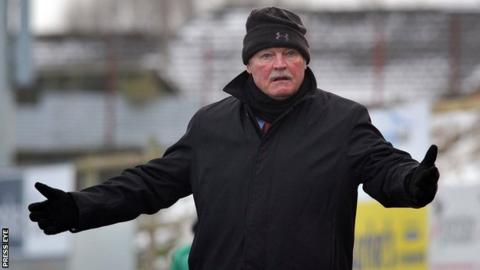 Long-serving Portadown manager Ronnie McFall