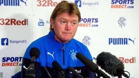 Stuart McCall addresses the media