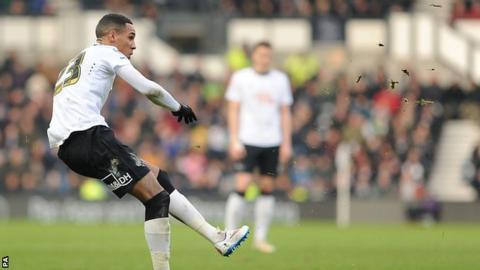 Tom Ince in action for Derby