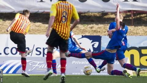 Steven Lawless fired in a late winning goal for Partick Thistle