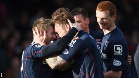 Ross County's Craig Curran (right) and Michael Gardyne were both on the score sheet