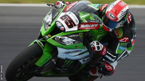 Northern Ireland rider Jonathan Rea in World Superbike action