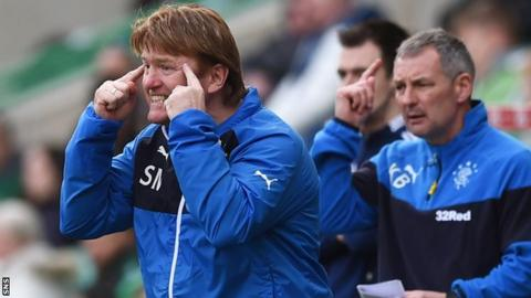 Stuart McCall in the dugout at Easter Road