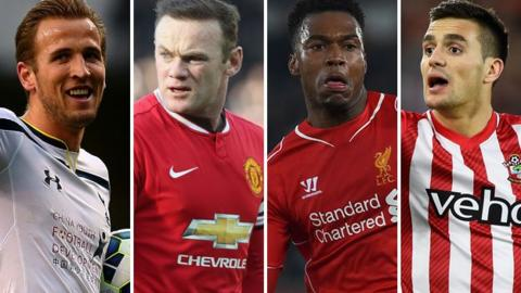Harry Kane, Wayne Rooney, Daniel Sturridge, Dusan Tadic